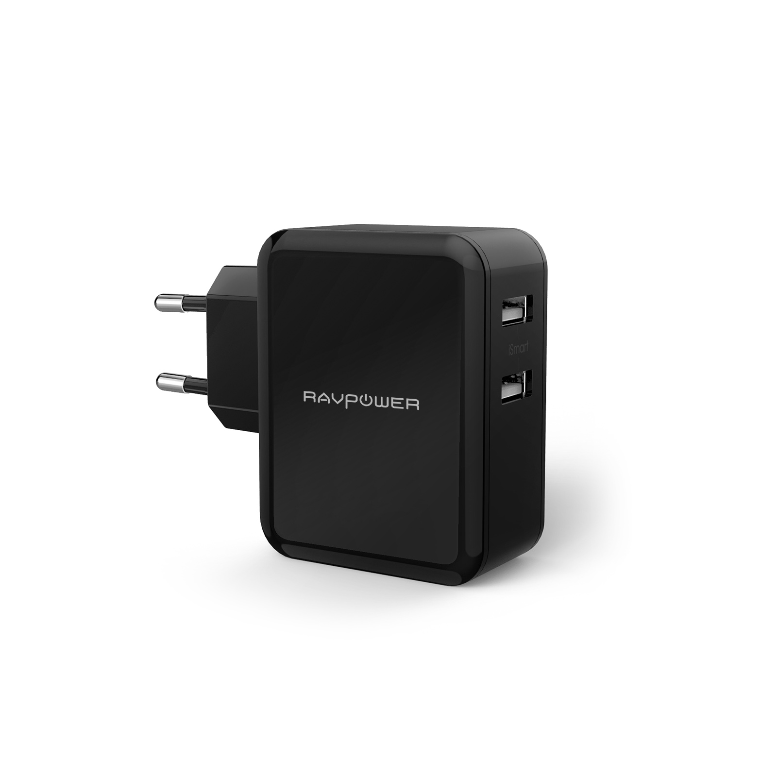 RAVPower USB Ladegerät 2-Port 24W 4,8A Reise Ladeadapter mit iSmart Technologie für iPhone X XS XR XS Max 8 7 6 Plus, iPad Pro Air Mini, Galaxy S9 S8 Plus, LG, Huawei, HTC, Bluetooth Kopfhörer, Mp3 usw. schwarz